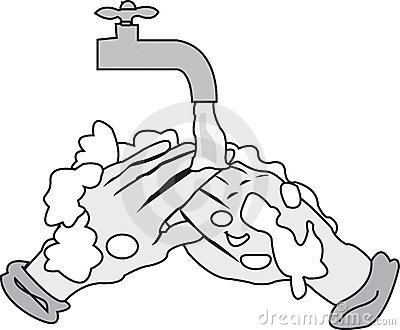 Hand Hygiene Clipart Washing Hands Clipart Black