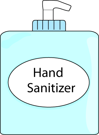 Hand Sanitizer Clip Art Image   Bottle Of Hand Sanitizer With A Hand