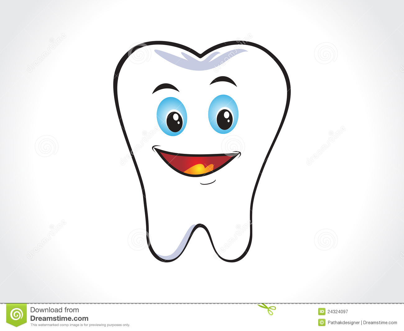 Happy Tooth Clipart
