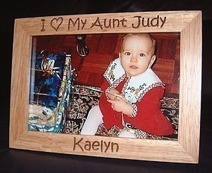 Love Picture Frames On Personalized Engraved I Love My Aunt 4x6 Frame