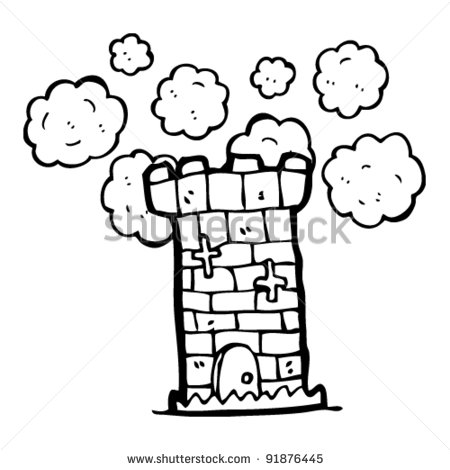 Medieval Tower Clipart Medieval Tower Cartoon   Stock