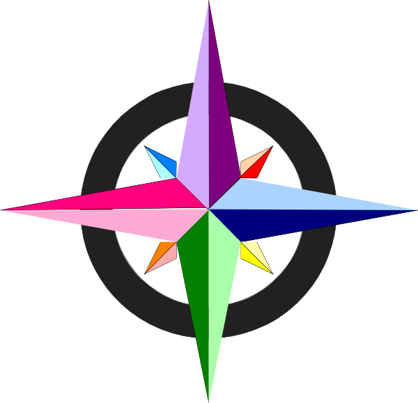Related Pictures Vector Compass On White Background
