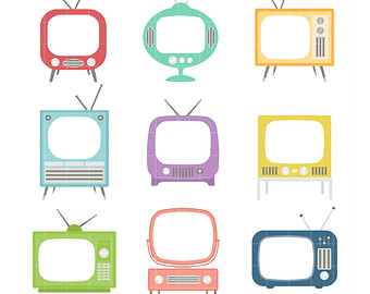 Retro Television Sets Frames Digita L Clip Art For Scrapbooking Card