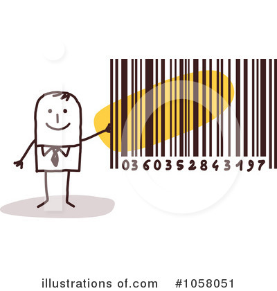 Royalty Free  Rf  Bar Code Clipart Illustration By Nl Shop   Stock
