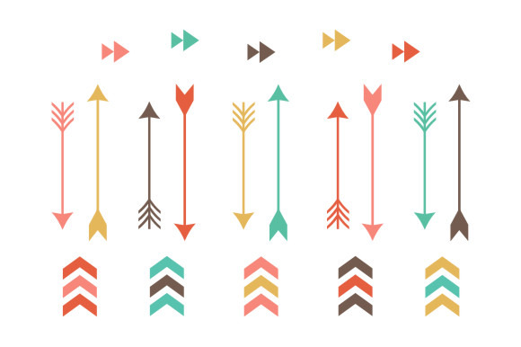 Tribal Arrow Clip Art   Illustrations On Creative Market