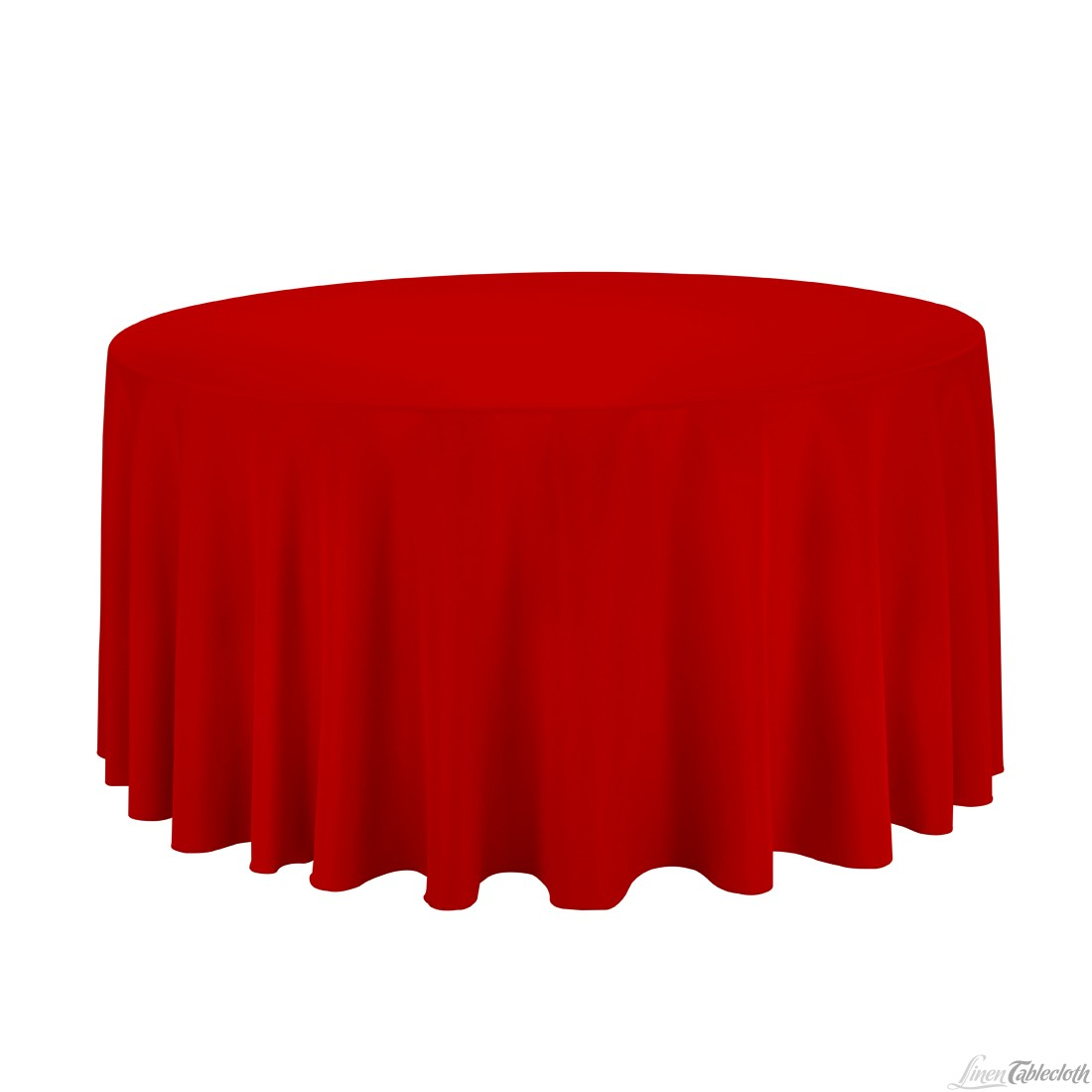 120 Inch Round Polyester Tablecloth Red On A 60 Inch Round Table