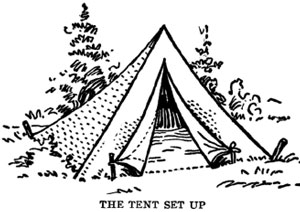 Camping Tent Drawing The Tent Is Made From Four