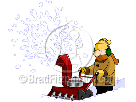 Cartoon Snowblower Clipart Picture   Royalty Free Snowblower Clip Art