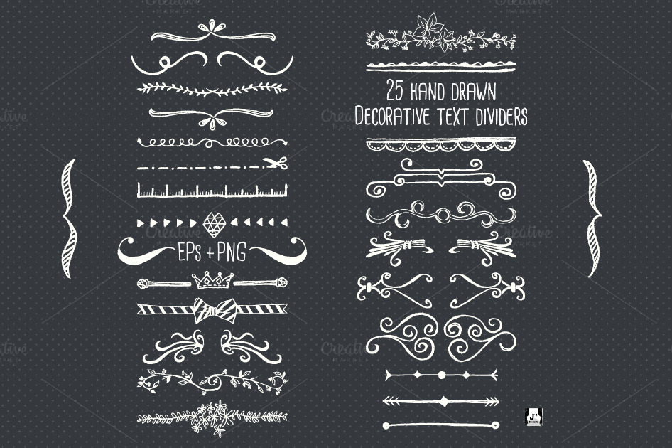 Chalkboard Text Divider Clip Art   Objects On Creative Market