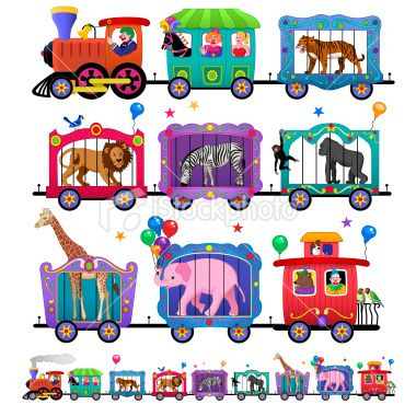 Circus Train Clip Art   Dark Brown Hairstyles