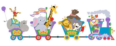Circus Train Clip Art
