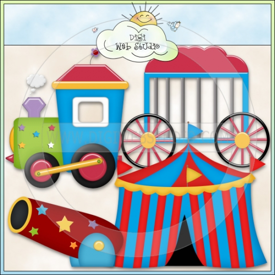 Circus Train Clip Art Whimsical Clip Art Graphics