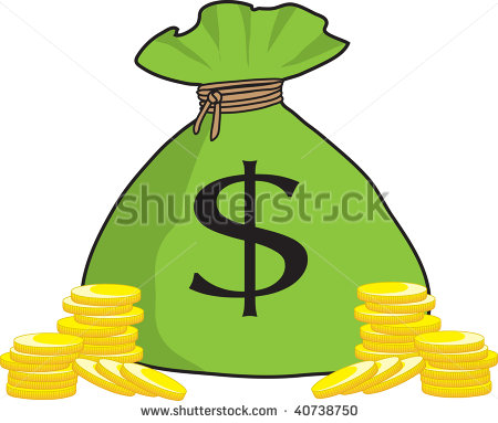 Clipart Illustration Of A Money Bag Filled With Gold Coins   40738750