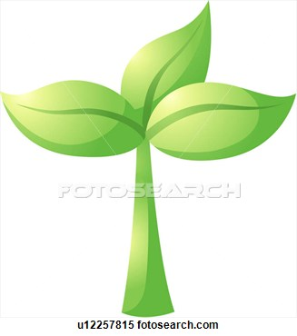 Clipart   Sprout Leaf Plants Plant Logo Icon  Fotosearch   Search