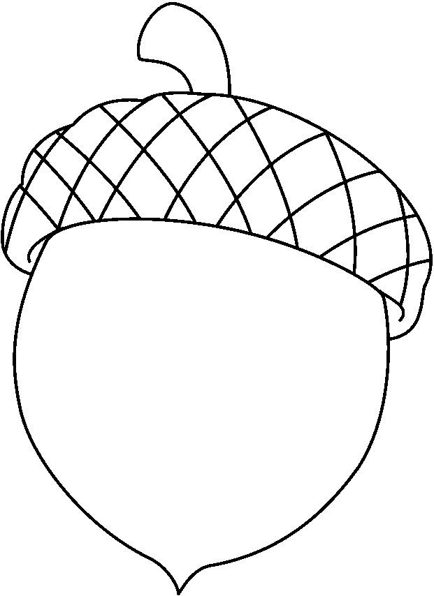 Clip Art Acorn Clip Art acorn outline clipart kid coloring pages acorns printable