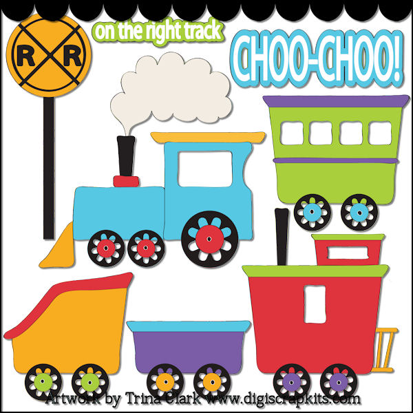 Free Circus Train Clip Art Train Things 1 Non Exclusive