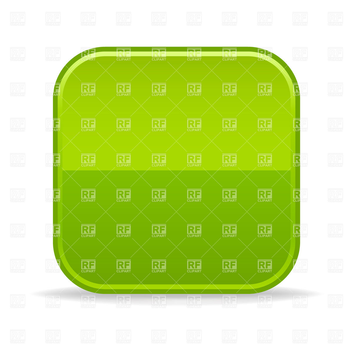 Green Square Button Blank Template With Rounded Corners 14098 Design