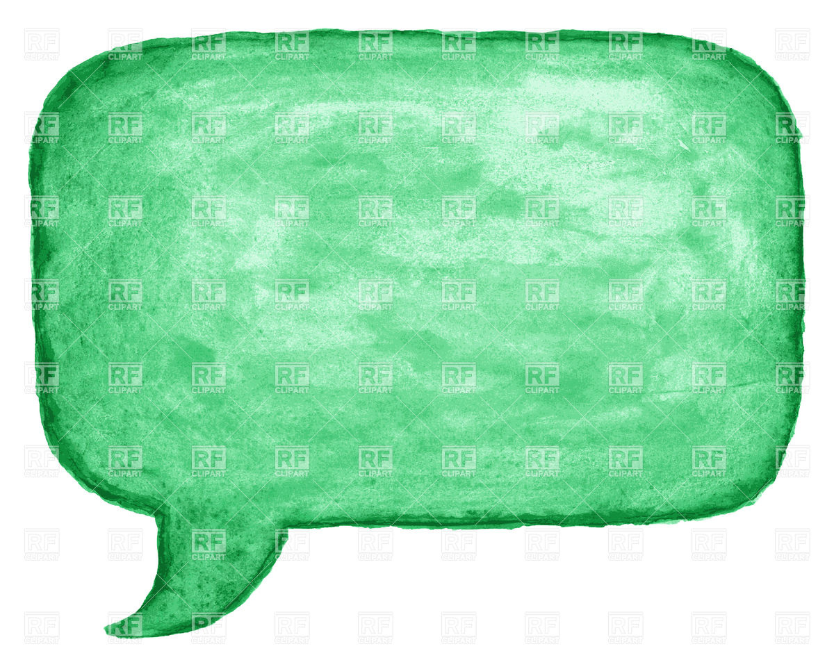 Green Watercolor Square Speech Bubble 12975 Download Royalty Free