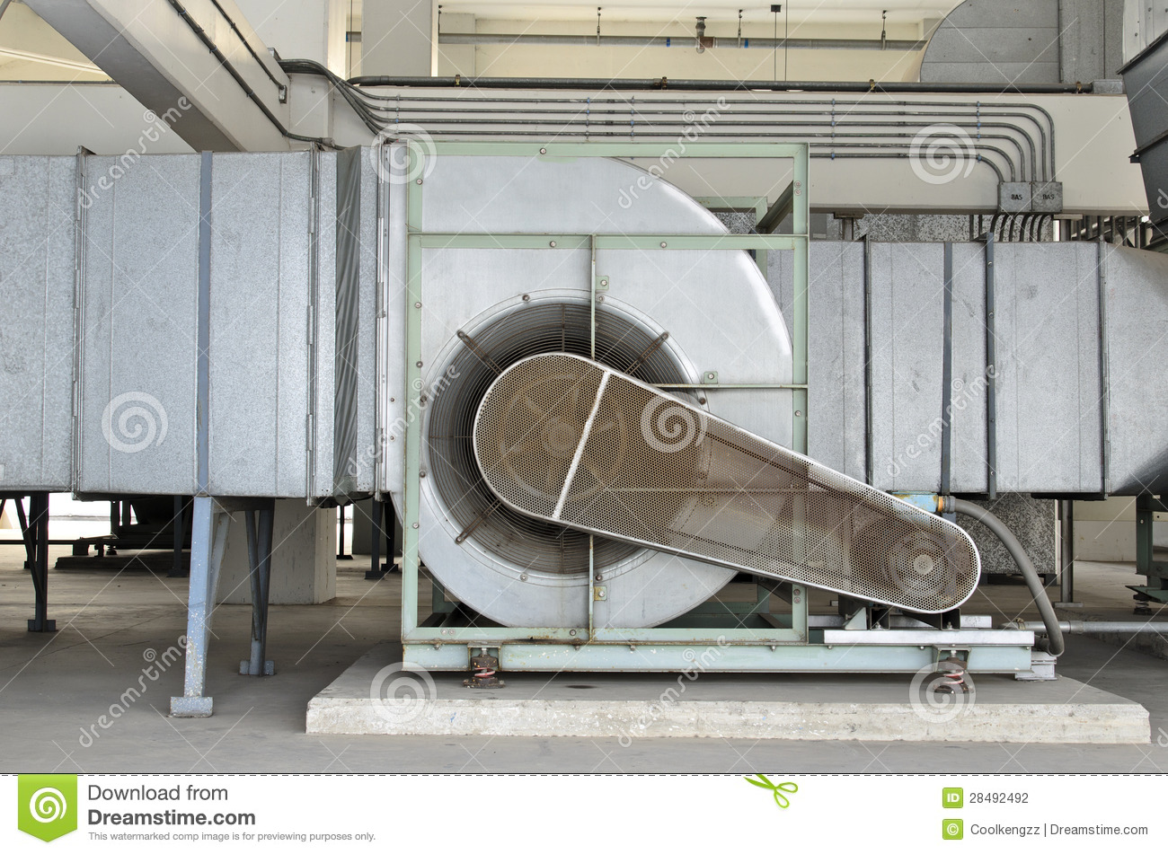 Huge Motor Blower For Chiller Stock Photography   Image  28492492