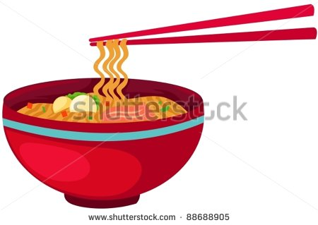 Illustration Of Isolated Noodles Food With Chopsticks On White   Stock