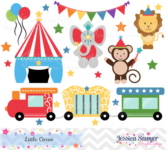 Instant Download Circus Clipart Train Clip Art For Personal Use