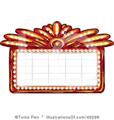 Theater sign clipart clipart suggest for Theatre sign clipart
