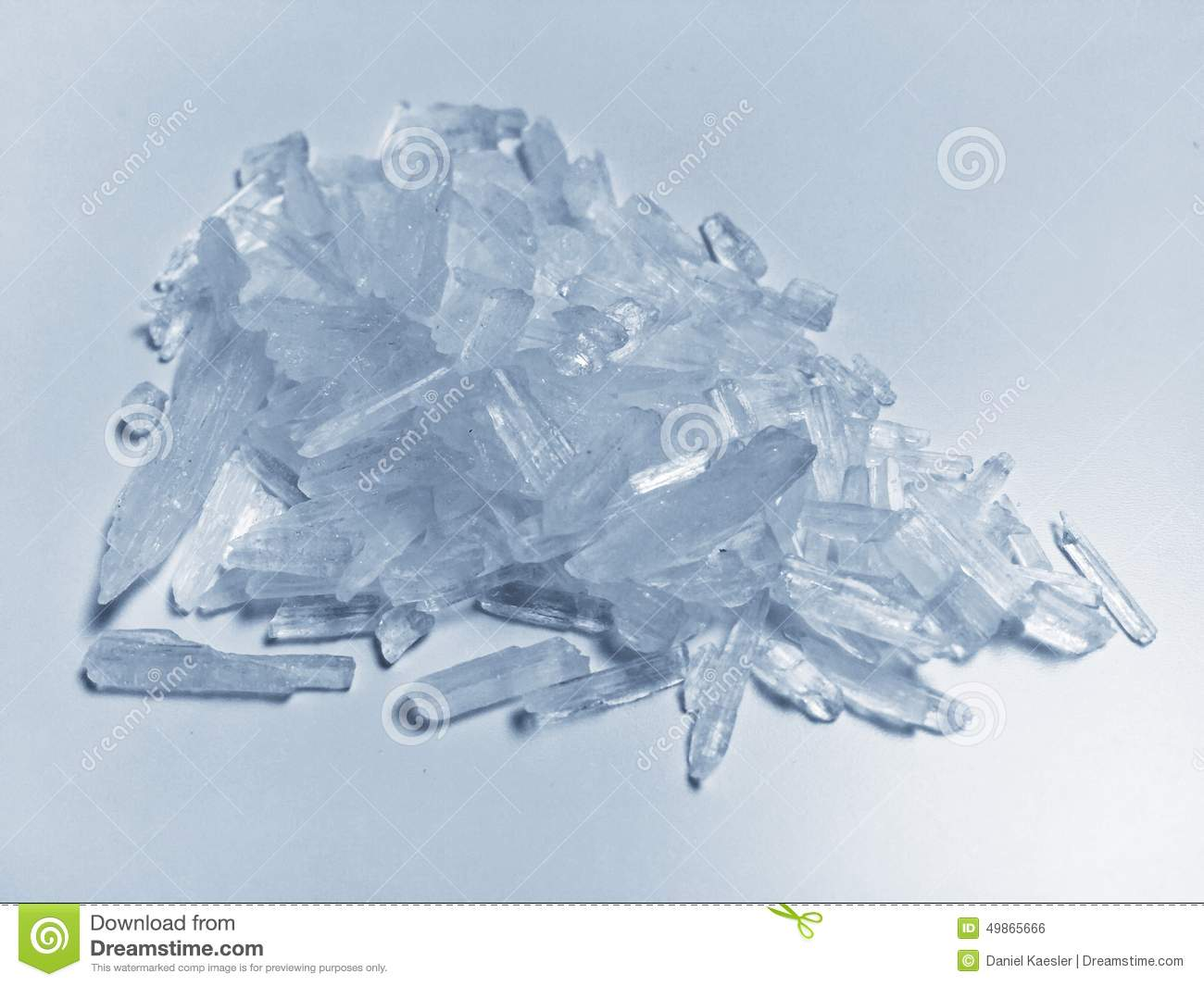 Pile Of Methamphetamine Also Known As Crystal Meth