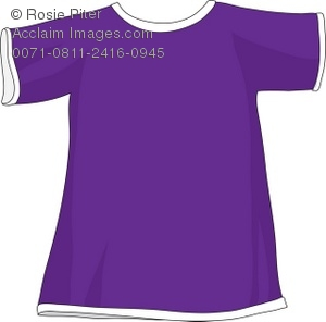 Royalty Free Clipart Illustration Of A Purple T Shirt