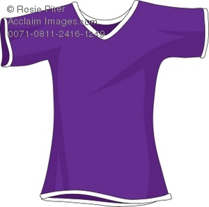 Royalty Free Clipart Illustration Of A Small Purple T Shirt   Acclaim