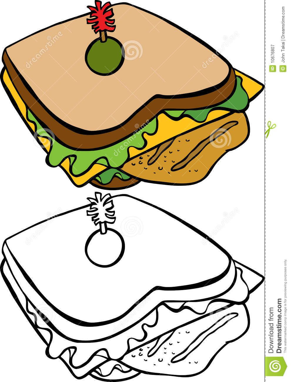 Sandwich Wrap Drawing   Clipart Panda   Free Clipart Images
