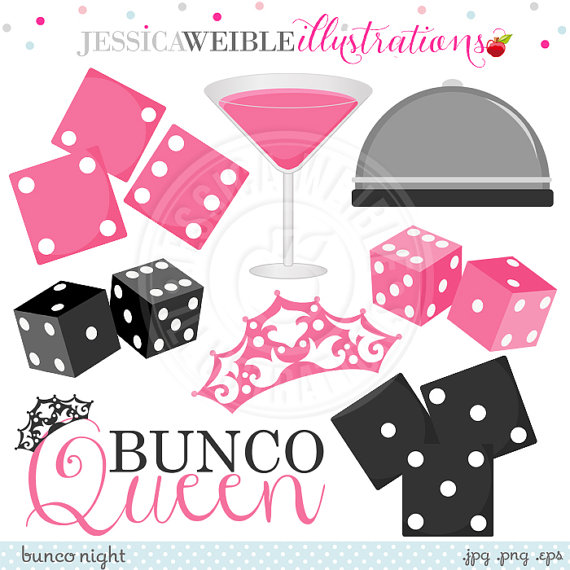 Use Ok   Dice Clipart   Bunco Graphics Pink Martini Bunco Clipart
