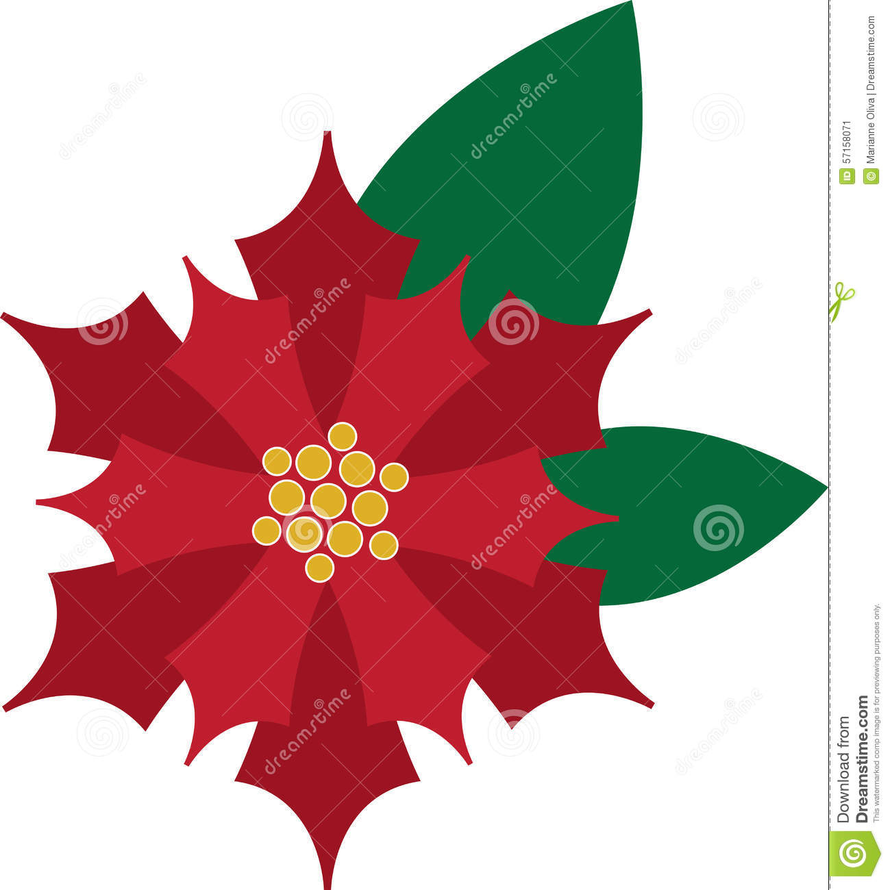 Use This Poinsettia On Table Linens And Decorations For Christmas