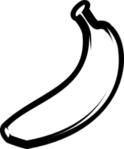 Banana Outline Fat Clip Art At Clker Com   Vector Clip Art Online