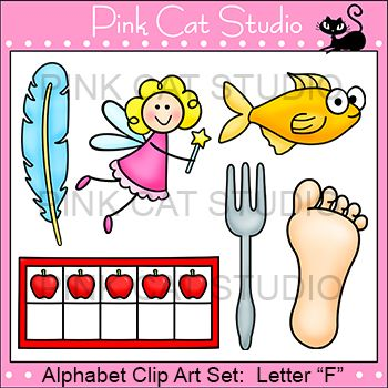 Beginning Sounds Clip Art For The Letter F  The Designs Are  Fork