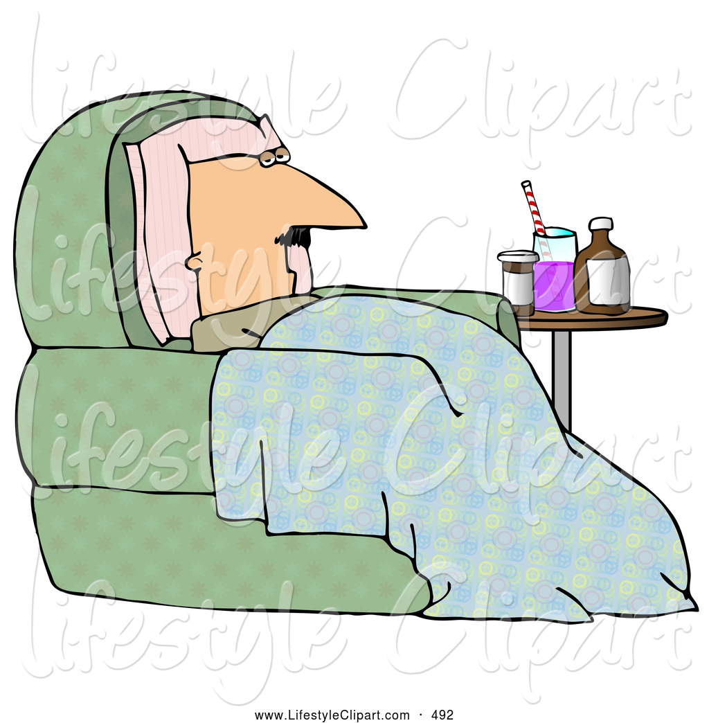 Clipart Pillow And Blanket Lifestyle Clipart Of A Sick