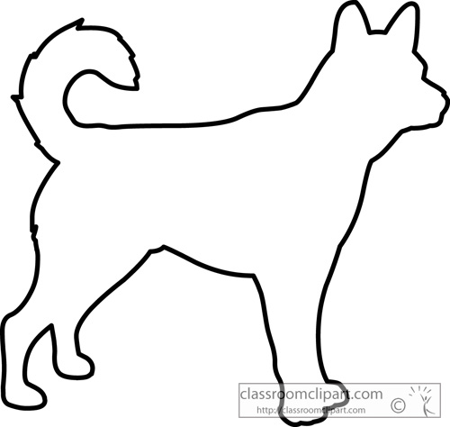 Dog And Cat Outline Clipart - Clipart Kid