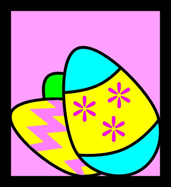 Easter Eggs Clipart Black And White  Easter Eggs