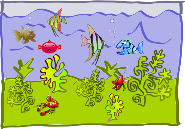 Underwater World   Aquarium Clip Art At Clker Com   Vector Clip Art