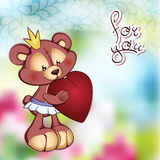 Vector Of Cute Teddy Bear In A Tutu And Royalty Free Stock Image