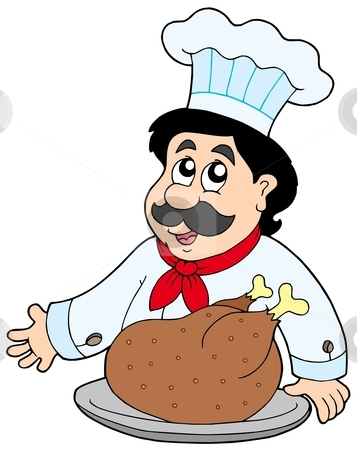Chef With Meat Clipart - Clipart Kid