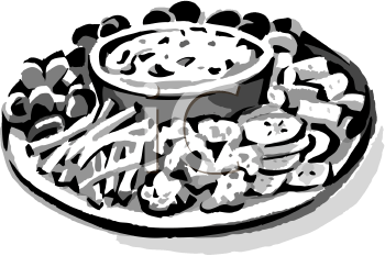 Clip Art Picture Of A Platter Of Raw Veggies   Foodclipart Com