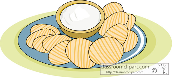 Dessert Clipart   Chips And Dip   Classroom Clipart