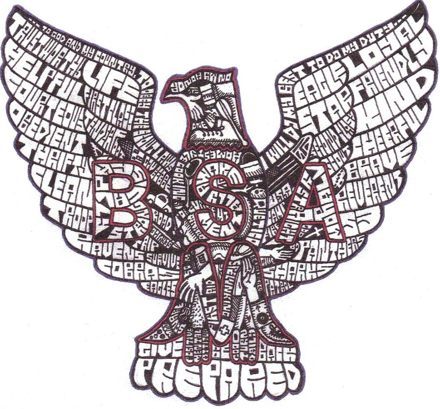 eagle boy scout emblem clipart clipart suggest