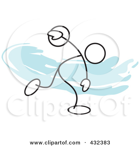Discus throw clip art