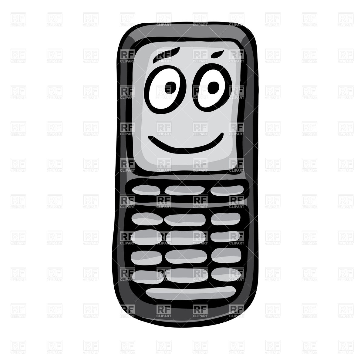 Funny Cell Phone Clip Art