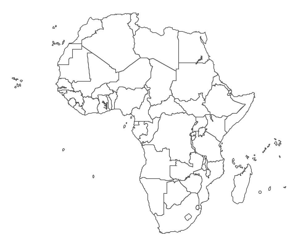 Geo Map   Contours Of Africa Countries