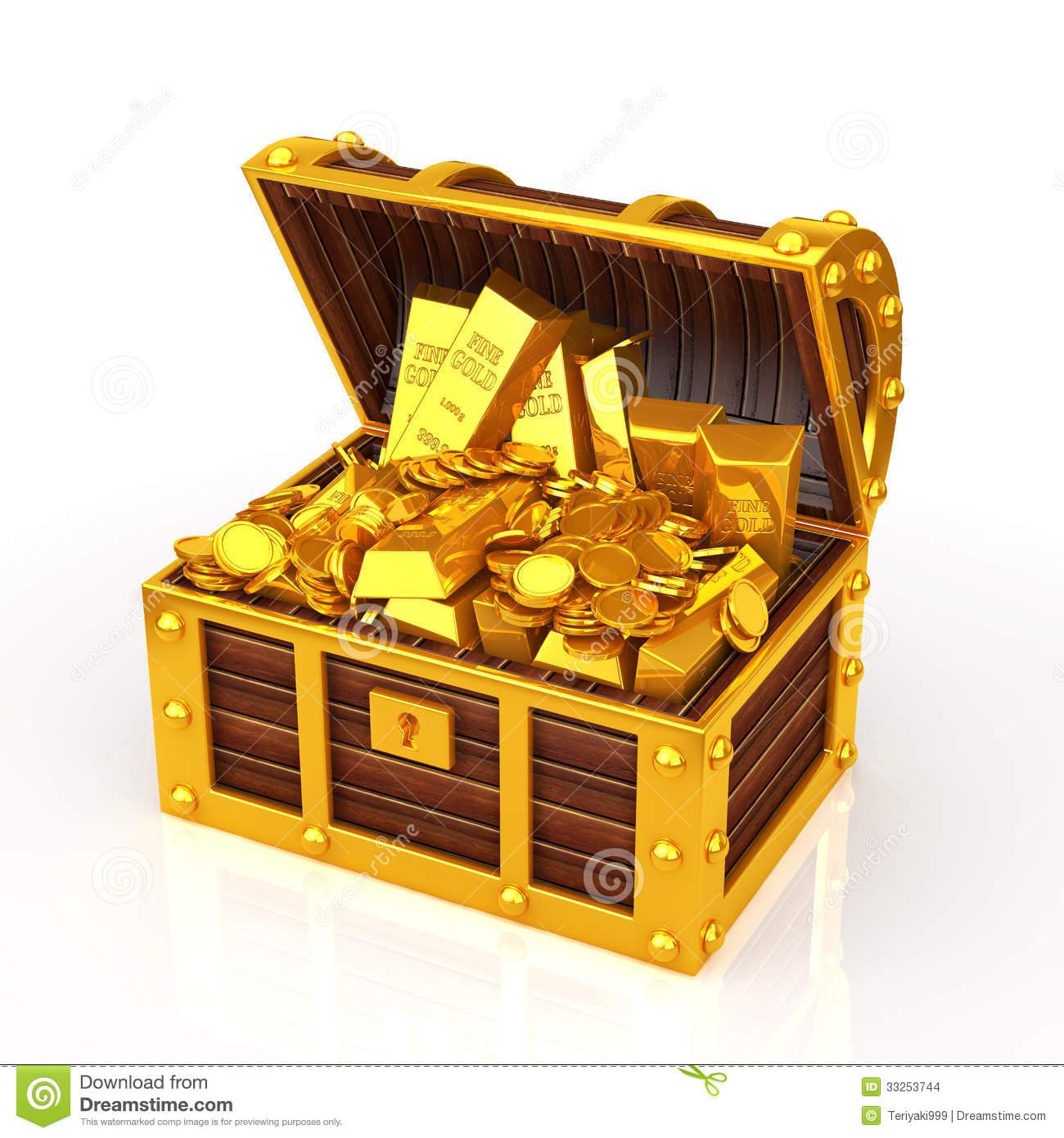 Gold Treasure Clipart - Clipart Kid