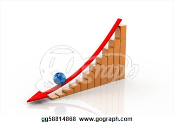 Graph Showing Decrease In Profits  Clipart Illustrations Gg58814868