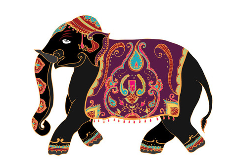 indian elephant cartoon drawing. Black Bedroom Furniture Sets. Home Design Ideas