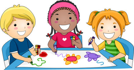 Kids Doing Crafts Clip Art   Site About Children